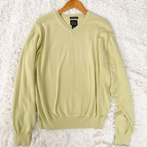 JOSEPH A BANK Signature Collection Green Sweater